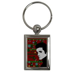 Elvis Presley   Christmas Key Chains (rectangle)  by Valentinaart