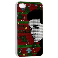 Elvis Presley   Christmas Apple Iphone 4/4s Seamless Case (white) by Valentinaart