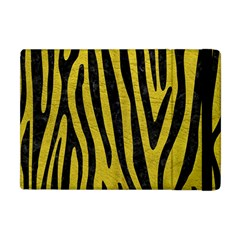 Skin4 Black Marble & Yellow Leather (r) Apple Ipad Mini Flip Case by trendistuff