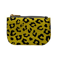 Skin5 Black Marble & Yellow Leather (r) Mini Coin Purses by trendistuff