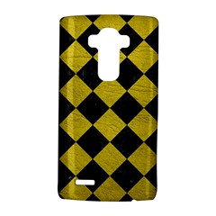 Square2 Black Marble & Yellow Leather Lg G4 Hardshell Case by trendistuff