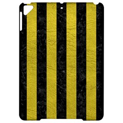 Stripes1 Black Marble & Yellow Leather Apple Ipad Pro 9 7   Hardshell Case by trendistuff