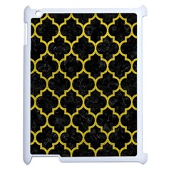 Tile1 Black Marble & Yellow Leather (r) Apple Ipad 2 Case (white) by trendistuff