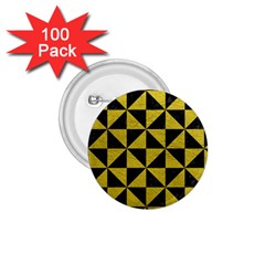 Triangle1 Black Marble & Yellow Leather 1 75  Buttons (100 Pack)  by trendistuff