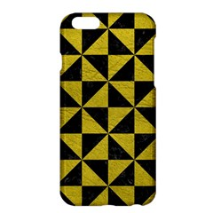 Triangle1 Black Marble & Yellow Leather Apple Iphone 6 Plus/6s Plus Hardshell Case by trendistuff