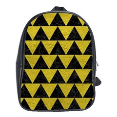 Triangle2 Black Marble & Yellow Leather School Bag (xl) by trendistuff