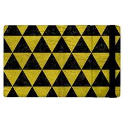 Triangle3 Black Marble & Yellow Leather Apple Ipad 3/4 Flip Case