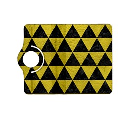 Triangle3 Black Marble & Yellow Leather Kindle Fire Hd (2013) Flip 360 Case by trendistuff