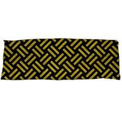 Woven2 Black Marble & Yellow Leather (r) Body Pillow Case Dakimakura (two Sides)