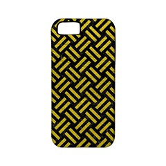 Woven2 Black Marble & Yellow Leather (r) Apple Iphone 5 Classic Hardshell Case (pc+silicone)