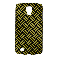 Woven2 Black Marble & Yellow Leather (r) Galaxy S4 Active by trendistuff