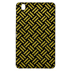 Woven2 Black Marble & Yellow Leather (r) Samsung Galaxy Tab Pro 8 4 Hardshell Case by trendistuff