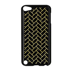 Brick2 Black Marble & Yellow Watercolor (r) Apple Ipod Touch 5 Case (black) by trendistuff