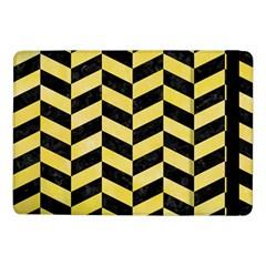 Chevron1 Black Marble & Yellow Watercolor Samsung Galaxy Tab Pro 10 1  Flip Case