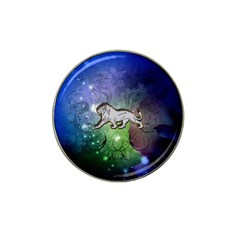 Wonderful Lion Silhouette On Dark Colorful Background Hat Clip Ball Marker (10 Pack) by FantasyWorld7