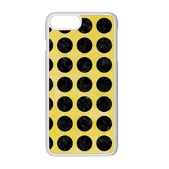 Circles1 Black Marble & Yellow Watercolor Apple Iphone 8 Plus Seamless Case (white)
