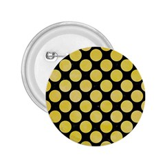 Circles2 Black Marble & Yellow Watercolor (r) 2 25  Buttons by trendistuff