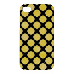 Circles2 Black Marble & Yellow Watercolor (r) Apple Iphone 4/4s Premium Hardshell Case by trendistuff