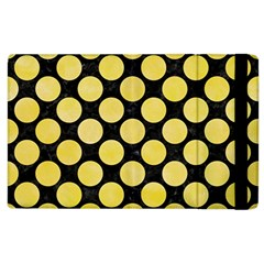 Circles2 Black Marble & Yellow Watercolor (r) Apple Ipad 3/4 Flip Case