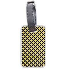 Circles3 Black Marble & Yellow Watercolor Luggage Tags (one Side)  by trendistuff