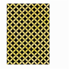 Circles3 Black Marble & Yellow Watercolor (r) Large Garden Flag (two Sides) by trendistuff