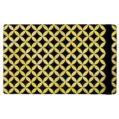 Circles3 Black Marble & Yellow Watercolor (r) Apple Ipad 3/4 Flip Case