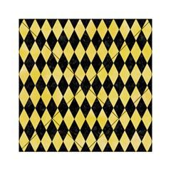Diamond1 Black Marble & Yellow Watercolor Acrylic Tangram Puzzle (6  X 6 ) by trendistuff