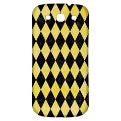 Diamond1 Black Marble & Yellow Watercolor Samsung Galaxy S3 S Iii Classic Hardshell Back Case by trendistuff