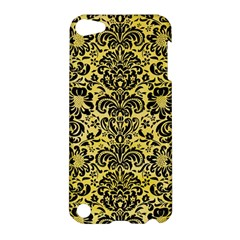 Damask2 Black Marble & Yellow Watercolor Apple Ipod Touch 5 Hardshell Case by trendistuff