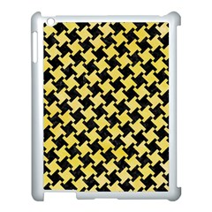 Houndstooth2 Black Marble & Yellow Watercolor Apple Ipad 3/4 Case (white) by trendistuff
