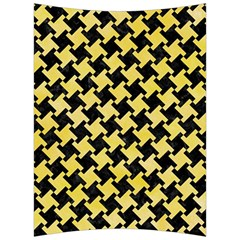 Houndstooth2 Black Marble & Yellow Watercolor Back Support Cushion