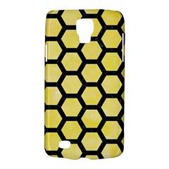 Hexagon2 Black Marble & Yellow Watercolor Galaxy S4 Active by trendistuff