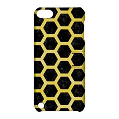 Hexagon2 Black Marble & Yellow Watercolor (r) Apple Ipod Touch 5 Hardshell Case With Stand by trendistuff