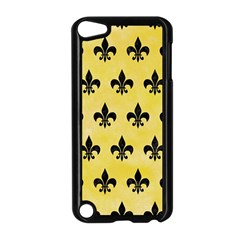 Royal1 Black Marble & Yellow Watercolor (r) Apple Ipod Touch 5 Case (black) by trendistuff