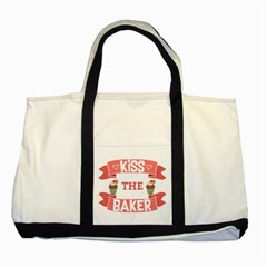 Kiss The Baker Two Tone Tote Bag by BakersandArtists