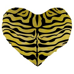 Skin2 Black Marble & Yellow Watercolor Large 19  Premium Flano Heart Shape Cushions by trendistuff