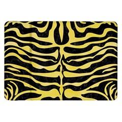 Skin2 Black Marble & Yellow Watercolor (r) Samsung Galaxy Tab 8 9  P7300 Flip Case by trendistuff