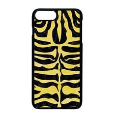 Skin2 Black Marble & Yellow Watercolor (r) Apple Iphone 8 Plus Seamless Case (black)
