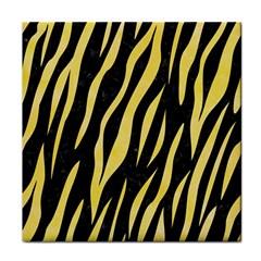 Skin3 Black Marble & Yellow Watercolor (r) Face Towel by trendistuff