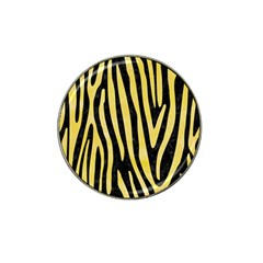 Skin4 Black Marble & Yellow Watercolor Hat Clip Ball Marker (4 Pack) by trendistuff