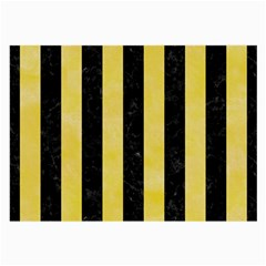Stripes1 Black Marble & Yellow Watercolor Large Glasses Cloth (2 Side) by trendistuff