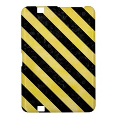 Stripes3 Black Marble & Yellow Watercolor Kindle Fire Hd 8 9  by trendistuff