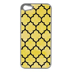 Tile1 Black Marble & Yellow Watercolor Apple Iphone 5 Case (silver)