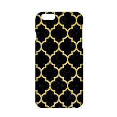 Tile1 Black Marble & Yellow Watercolor (r) Apple Iphone 6/6s Hardshell Case