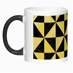 Triangle1 Black Marble & Yellow Watercolor Morph Mugs by trendistuff