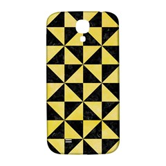 Triangle1 Black Marble & Yellow Watercolor Samsung Galaxy S4 I9500/i9505  Hardshell Back Case by trendistuff