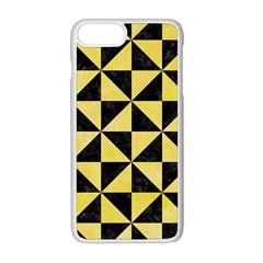 Triangle1 Black Marble & Yellow Watercolor Apple Iphone 8 Plus Seamless Case (white)