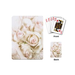 Pastel Roses Antique Vintage Playing Cards (mini)  by Celenk
