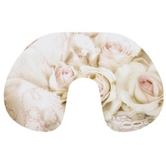 Pastel Roses Antique Vintage Travel Neck Pillows