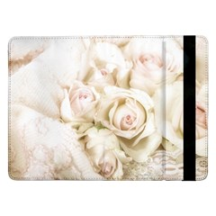 Pastel Roses Antique Vintage Samsung Galaxy Tab Pro 12 2  Flip Case by Celenk
